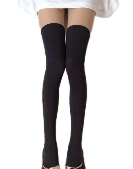 collant bicolore chaussettes montantes ecoliere black sugar en ligne. Black Bedroom Furniture Sets. Home Design Ideas