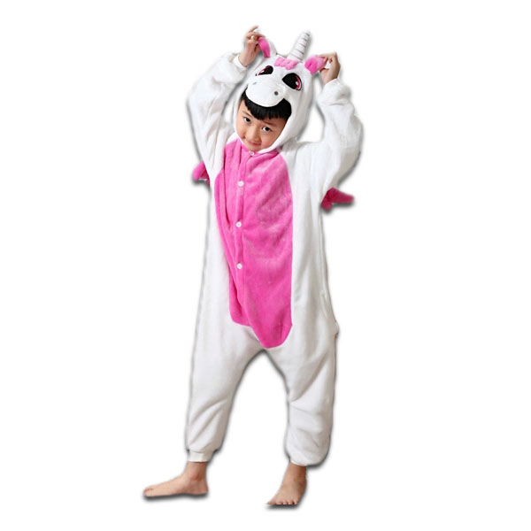 pyjama kigurumi grenouill re enfant licorne rose black. Black Bedroom Furniture Sets. Home Design Ideas