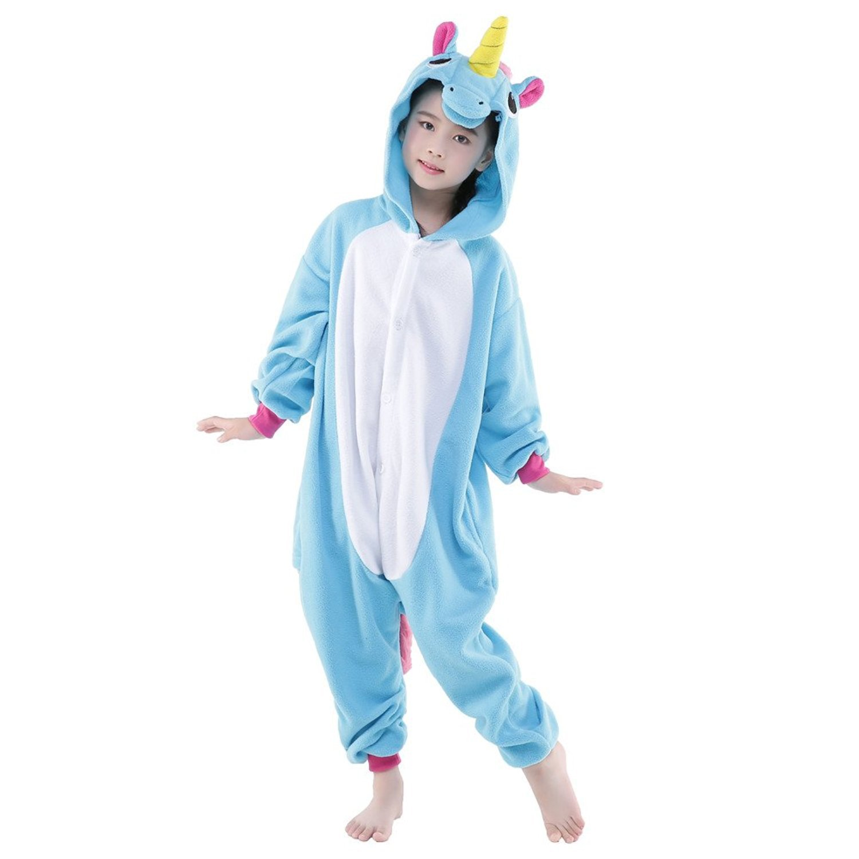 pyjama kigurumi grenouill re licorne bleue enfant black. Black Bedroom Furniture Sets. Home Design Ideas